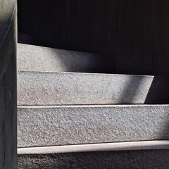 Urban Abstract No 64 (llawsonellis) Tags: light shadows lightandshadows pattersn concrete stairs abstraction crop selection urban urbanabstract unusualviewandperspectives