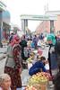 The Women Of Samarkand Bazaar (peterkelly) Tags: uzbekistan samarkand asia digital gadventures centralasiaadventurealmatytotashkent canon 6d market bazaar women scarf apples grapes pears produce fruit vendor seller colours colors colour color samarqand