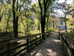 an afternoon in the country 🍃 (anokarina) Tags: harpersferry westvirginia wv appleiphone8 country autumn blueridgemountains appalachiantrail shenandoahrivervalley river mountains trees woods fall wood footbridge bridge wooden nationalparkservice nps nationalpark