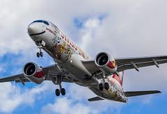 HB-JCA Swiss Bombardier CSeries CS300 @ London Heathrow Airport, Hillingdon Borough. (Sw Aviation) Tags: hbjca swiss bombardier cseries cs300 london heathrow airport hillingdon borough