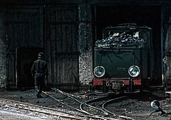 Liszkowo shed. by gearlok - Białośliwie network. PKP T2-71 June 1975
