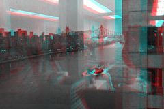 New York, New York (DDDavid Hazan) Tags: newyork newyorkcity ny nyc eastriver river tugboat hospital cityscape skyline queensborobridge anaglyph 3d bwanaglyph blackandwhiteanaglyph 3danglyph 3dstereophotography redcyan redcyan3d stereophotography stereo3d
