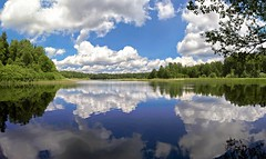 Water Mirror (Explored) (tomas.jezek) Tags: water mirror glass pond sky lake landscape wide czechia reflection nature green blue white summer explore vista