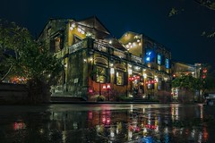 Hoi An - rainy night (Klaus Mokosch) Tags: hoian vietnam city urban night asia asien reflection spiegelung longexposure light street habortown