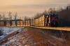 An Evening CN 192 (Going Trackside Photography) Tags: canadian national railway canada alberta carvel explore intermodal sunset sun winter cn cnr cnrail rail glint