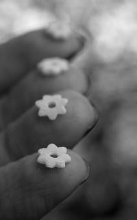 Fingertips in B&W