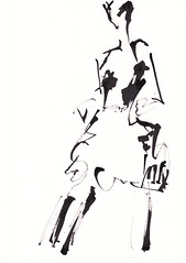 Model sketch [20171103] (rodneyvdb) Tags: abstracted art blackandwhite bw boots contemporary drawing expression expressionism fashion femme figure figurative illustration ink modern model muse paper pose sketch vogue woman