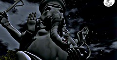 Peace (Metzyyy) Tags: ganesha indian elephant dark night stars sky moon adventure secondlife sl friends starrynight clouds cloudy nighttime hindugod bestfriend travels photo statue quiet big island tranquility peace