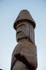 DSC_7847 (Copy) (pandjt) Tags: chilliwack bc britishcolumbia stólō stolo yakweakwioose firstnation yakweakwioosefirstnation terryhorne chiefterryhorne welcomefigures welcome sculpture carving publicart