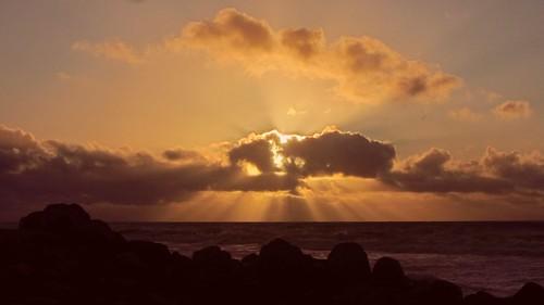 Solnedgang på Nordsøstranden