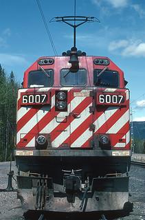 3 BC Rail Electrics at Murray, BC on May 27, 1992