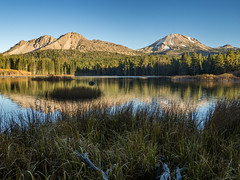 On the Manzanita Lake Trail (jenesizzle) Tags: lassenvolcanicnationalpark nationalpark lassen lavo volcano lake forest hiking outdoors landscape mountains manzanitalakecampground manzanitalake sunset goldenhour lassenpeak