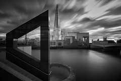 Another angle on London (Explored Nov 17) (another_scotsman) Tags: london shard mono longexposure londonbridge cityscape