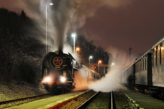 2013-12-14 Night Trains (beranekp) Tags: czech praha prag prague night railway eisenbahn železnice steam dampf lokomotive locomotive