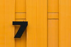 7 (Karl-Heinz Bitter) Tags: architektur deutschland leipzig architecture germany yellow 7 sieben seven lines graphic facade abstract alte messe
