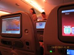 Flight Path (RubyGoes) Tags: emirates plane a380 seats flightattendant screen map world