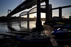 Beneath the bridges (Tripod Ape) Tags: tamar saltash cornwall bridges