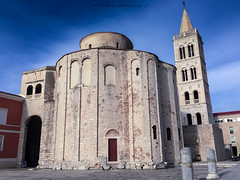 The Church of St. Donatus (patrik_zubaj) Tags: zadar croatia europe church adriatic beauty blue belfry colors city daylight photography enjoy earth holiday history iphone6 sky magical mediterranean outdoor old town tourism travel architecture