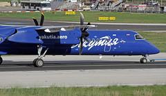 VP-BOS LMML 15-11-2017 (Burmarrad (Mark) Camenzuli) Tags: airline yakutia airlines aircraft bombardier dash 8 402q registration vpbos cn 4159 lmml 15112017