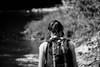 backpacker (jellamalo) Tags: nature hike river adventure blakandwhite