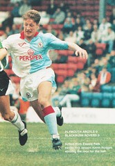 Plymouth Argyle vs Blackburn Rovers - 1991 - Page 9 (The Sky Strikers) Tags: plymouth argyle blackburn rovers barclays league division two home park programme one pound