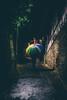 Das Mühlgäßchen (sfp - sebastian fischer photography) Tags: portrait weinheim nachts abends abend nacht night regenschirm umbrella herbst autumn fall rain regen fineart altstadt humanelement