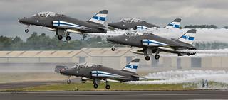 Finnish Air Force - Midnight Hawks display team.