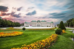 Belvedere palace in Vienna, Austria (altextravel) Tags: belvedere vienna austria palace landmark europe building capital travel baroque architecture old garden tourism city residence wien historic castle town facade sightseeing summer classic austrian famous monument upper scenic water art fountain royal museum history schloss monarchy heritage habsburg historical unesco traditional touristic touristattraction schlossbelvedere majestic reflection sunset night sky