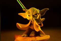 Star Wars : Yoda (mak_9000) Tags: gamesorgamepieces macromondays memberschoice hmm green orange yoda starwars boardgame figure