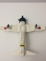 Zero underside view (TheMachine27) Tags: lego zero wwii japanese fighter airplane mitsubishi military a6m