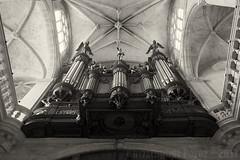 Heavenly Music ~ Paris, France (Christopher Mark Perez) Tags: heavenlymusic music musicalinstrument paris france cathedral catholicchurch bw monochrome blackandwhite