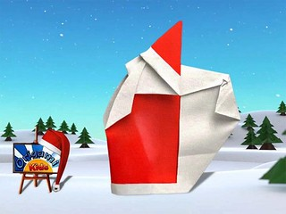Origami Santa Claus 3B by Giang Dinh