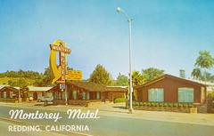 Monterey Motel (Thomas Hawk) Tags: america california montereymotel redding usa unitedstates unitedstatesofamerica vintage neon postcard fav10
