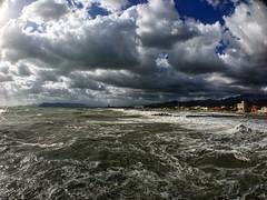 Storm (Suite116) Tags: boccadimagra liguria tuscany toscana massa foam waves wave onde porto pontile dock summer nuvole clouds marinadimassa mareggiata mare sea tempesta storm