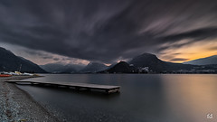Soirée dark avec un traitre (flo73400) Tags: ponton lacdannecy lake landscape mountain poselongue longexposure coucherdesoleil sunset nisi