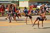 Triple flippers (radargeek) Tags: 2016 mustangwesterndaysparade mustang oklahoma ok tribecheer tumble cheer parade kid child sunglasses cowboyhat