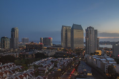 Time to unwind, day is done (Karon Elliott Edleson) Tags: downtown wideangle 10mm 7dwf sandiego dusk view city highrise condominium americasfinestcity