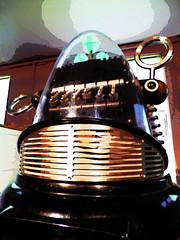 Grillz (Steve Taylor (Photography)) Tags: grillz grill art digital museum brown black contrast gold metal uk gb england greatbritain unitedkingdom london texture bethnalgreen childhood robbytherobot robot va vamuseumofchildhood