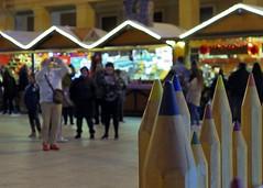 Navidad Plaza del Pilar, Zaragoza (joseange) Tags: christmas navidad bokeh lumix lx15 lx10 zaragoza lx1510 panasonic colores lapiceros