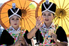 Hmong Pov Pob (Manon van der Lit) Tags: asia laas phonsavan newyear hmong woman girls tribe costumes yellow tradition ball throwing povpob game umbrella