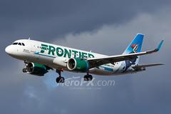 Frontier Airlines Airbus A320-251N - N309FR (AeroPX) Tags: aeropx airbusa320 airbusa320neo caryliao ewing frontierairlines kttn n309fr nj newjersey ttn trentonmercercountyairport westonthewoodpecker httpaeropxcom httpcaryliaocom