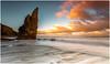 The Stack (Steven Peachey) Tags: seascape sunset sky clouds sun beach sand rocks tide stack seaham coast northeastcoast northeastengland chemicalbeach ef1740mmf4l 5dmarkiv canon5dmarkiv canon stevenpeachey lightroom leefilters lee09gnd hitech09gnd formatthitech durhamheritagecoast