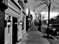 Downtown, Plymouth, Michigan (Dennis Sparks) Tags: iphone plymouth downtown pennimanst michigan blackwhite