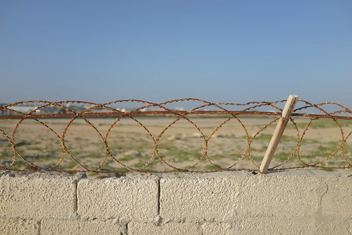 Aged barbed wire in Mogadishu