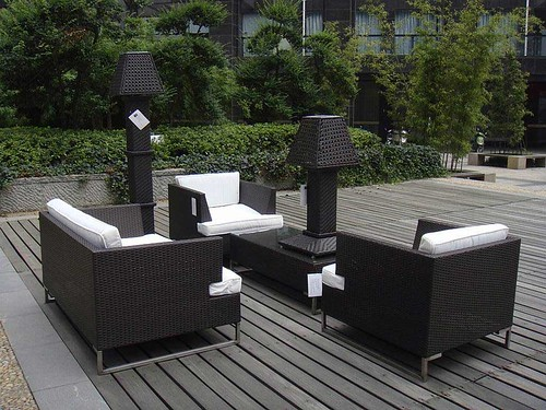 Black Wicker Outdoor Furniture Aluminum