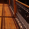 - (maggy le saux) Tags: luzysombra shadowandlight ombreetlumière piso floor parquet galería baranda balustrade ferforgé wroughtiron hierroforjado diagonale lignedefuite vanishingpoint wood