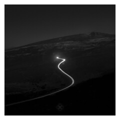 Alpine Pass (picturedevon.co.uk) Tags: haytor dartmoor nationalpark devon england uk winter snow blackandwhite fineart minimal landscape grey mono bw counrtyside outdoors night light car lighttrail le longexposure road travel wwwpicturedevon outside