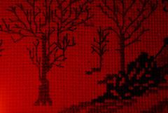 That Beautiful Christmas Memory (Ian Rowing) Tags: christmas embroidery craft homecraft home macromondays litbycandlelight