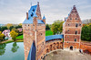 Beersel Castle in Beersel (hsadura) Tags: beersel beerselcastle belgium brussels chateau europe flemishbrabant castle day fort fortress historic landmark medieveal reflection tower wall watchtower water