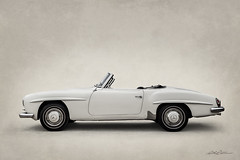 One-Ninety (DL_) Tags: vintage classic mercedesbenz white roadster german automotive transportation olympusomdem5mkii